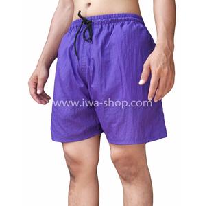 กางเกงขาสั้นชาย กางเกงสะท้อนแสง ม่วง