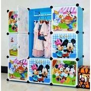 สีฟ้า : ตู้ DIY ลายการ์ตูน มิกกี้เม้าส์ Micky Mouse มีหลายขนาด 6,8,9,12,16 ช่อง พลาสติกหนา รับน้ำหนักได้ช่องละประมาณ 10-15 กิโลกรัม > ขนาด 12 ช่อง (ประตู 12 ฝาข้าง 43 หมุด 40) + ราวแขวนเสื้อ 2 อัน