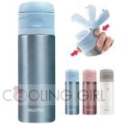 กระติกน้ำสูญญากาศ MoLiFun เก็บความร้อน/เย็น สีฟ้า ความจุ 400 ml