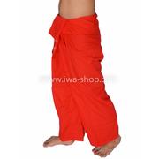 กางเกงเล กางเกงชายหาด ผ้าโทเร สีแดง