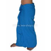 กางเกงเล กางเกงชายหาด ผ้าโทเร สีฟ้า