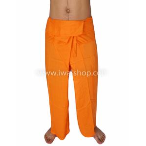 กางเกงเล กางเกงชายหาด ผ้าเรยอน สีส้ม
