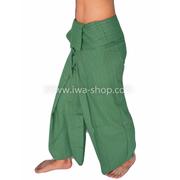 กางเกงเล กางเกงโยคะ ผ้าสลาฟ สีเขียวเข้ม