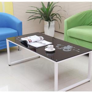 โต๊ะกลางกระจกโซฟา (EB001) > โต๊ะกลางกระจกโซฟา (EB001-2) สีขาว