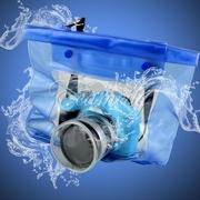 ซองกันน้ำกล้องดิจิตอล แคนนอน ถุงกันน้ำ สำหรับ กล้อง SLR สีฟ้า 20M Waterproof DSLR SLR Camera Underwater Housing Case Pouch Dry Bag Submersible