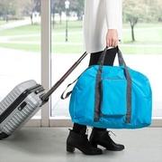 กระเป๋าเดินทางพับได้ ใบใหญ่ จุของได้เยอะ น้ำหนักเบา พกพาสะดวก ผลิตจากไนล่อนกันน้ำ เหมาะสำหรับเดินทาง ท่องเที่ยว > Green