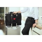 กระเป๋าเดินทางพับได้ อเนกประสงค์ เพื่อการเดินทาง ท่องเที่ยว เสียบที่จับของกระเป๋าเดินทางได้ > Black