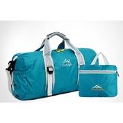 Foldable Duffle Travel Bag กระเป๋าเดินทางพับได้ขนาดใหญ่ 30 ลิตร สะพายได้ ใส่เพื่อเดินทางหรือเล่นกีฬา มี 6 สีให้เลือก รับประกัน 30 วัน > Red