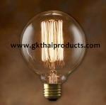 หลอดไส้ทรงลูกบอล ( Vintage Globe Lamp ) D9.5 cm.