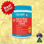 Caruso's Odourless Natural Fish Oil 1000mg ทานง่ายไร้กลิ่นคาว 400 Capsules