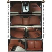 พรมปูพื้นรถยนต์ MU-X รุ่น 5 D Leather Mat สีน้ำตาล เข้ารูป 100%