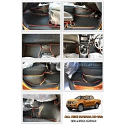 พรมปูพื้นรถยนต์ ALL NEW NAVARA NP-300 4 ประตู ลายกระดุม สีดำขอบแดง