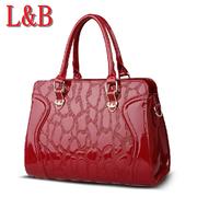 ขายปลีก-ส่ง กระเป๋าถือผู้หญิงกระเป๋าสีแดงทับทิมร้อนสีน้ำเงิน และกระเป๋าผู้หญิง กระเป๋าถือ กระเป๋าสะพาย หนัง PU ลายจระเข้ mujer กระเป๋า ช่อง,ผู้หญิง แฟ