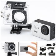 กล้อง Action Camera สีเงิน กันน้ำ,กันฝุ่นละลอง