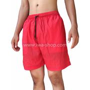 กางเกงขาสั้นชาย กางเกงสะท้อนแสง แดง