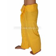 กางเกงเล กางเกงชายหาด ผ้าโทเร สีเหลือง