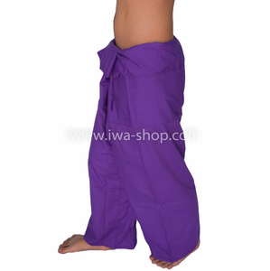 กางเกงเล กางเกงชายหาด ผ้าโทเร สีม่วง