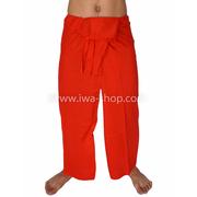 กางเกงเล กางเกงชายหาด ผ้าเรยอน สีแดง