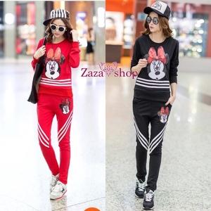 ชุดset เสื้อ+กางเกง เสื้อแขนยาว ปักเลื่อมมิกกี้ > Size XL