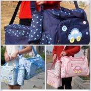 กระเป๋าสัมภาระคุณแม่ เซท 3 ใบ ยี่ห้อ MotherCare จัดส่งฟรี > กระเป๋าสัมภาระคุณแม่สีชมพู