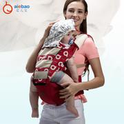 เป้อุ้มเด็ก HIPSEAT CARRIER ยี่ห้อ Aiebao รุ่น Four Season Upgrade (Mesh) สีแดง
