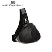 Harryson กระเป๋ากล้องทรงสามเหลี่ยมหนังแท้- สีดำ ส่งฟรีEMS.