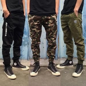 กางเกง Jogger pants > สีเขียวลายพราง