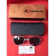 แว่น AO Original Pilot กรอบMatte Chrome (สีเงินด้าน) Made in USA ขนาดเลนส์ 55mm.