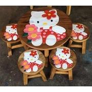 ส่งฟรี ชุดโต๊ะ+เก้าอี้ไม้แกะลาย