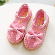 (Pre-Order)รองเท้าเจ้าหญิงหนังนุ่มตัดเย็บด้วยเส้นเอ็นที่ปลายโบว์