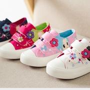 (Pre-Order)รองเท้าผ้าใบเพ้นท์ลายสาวน้อยน่ารัก ไซส์25 (16.5cm)-37(22.5cm)