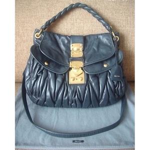 06fa10994e USED  Miu Miu Leather Bag - สีเทาเข้ม