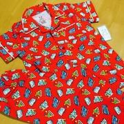 ชุดนอนเด็กผ้ายืดลายรถตักดินสีแดง > 8ขวบ