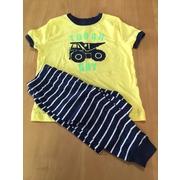ชุดนอน carter. สีเหลืองปักแปะลายรถ Snug fit. Soft Cotton  PJs