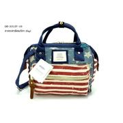 ลายธงชาติอเมริกา กระเป๋าผ้ายีนส์หนาสไตล์ Annello