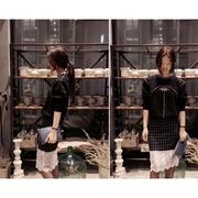CiCi Party (สินค้าพร้อมส่งค่ะ) เสื้อแฟชั่นเกาหลี คอกลม แขนยาว ผ้า cotton