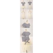 (สินค้าพร้อมส่งค่ะ) ชุดเดรสเกาหลี 2 ชิ้น ตัวนอกเป็นเสื้อตัวสั้นผูกเอว ผ้า cotton ลายริ้ว+ตัวในเดรสสา
