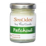 SenOdos เทียนหอม อโรม่า Patchouli Scented Soy Candle Aroma 45 g. - กลิ่นแพทชูลี่แท้