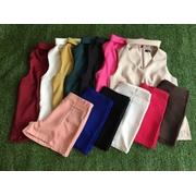กางเกงขาสั้น ผ้าฮานาโกะ กระเป๋าเจาะด้านหน้า 2 ใบ > XL