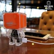 Crystal Doll Powerbank 6800mAh. สีส้ม