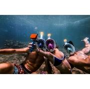 TRIBORD หน้ากากดำน้ำด้วยท่อหายใจ EASYBREATH > ชมพู S/M ต่อกล้อง