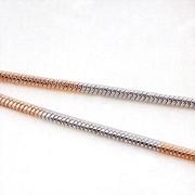 สร้อยคอ 2 กษัตริย์ ทองคำแท้ 18Kgp 45cm เส้นเล็กๆ สวยน่ารัก