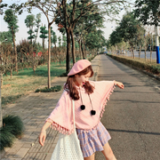 เสื้อคลุมแฟชั่นแบบสวม KoreaDesign มีฮูส ผ้าหนานิ่มทอลายเวเฟอร์ สีชมพู