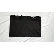 เสื้อยืดคอกลมสีดำสีพื้น ไม่มีลาย ผ้าท็อปดาย