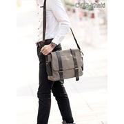 CV13-Khaki กระเป๋าสะพายข้าง ผ้าแคนวาส สีกากี