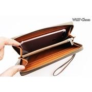 WL07-Choco กระเป๋าสตางค์ใบยาว กระเป๋าสตางค์ผู้ชาย หนัง PU สีช็อกโกแลต