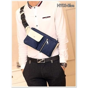 NY03-Blue กระเป๋าคาดอก กระเป๋าคาดเอว ผ้าไนลอน สีน้ำเงิน