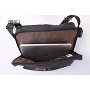 LT34-Brown กระเป๋าสะพายข้าง หนัง PU สีน้ำตาล X-LARGE