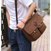CV09-Brown กระเป๋าสะพายข้าง ผ้าแคนวาส สีน้ำตาล