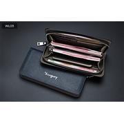 WL03 กระเป๋าสตางค์ผู้ชายใบยาว หนัง PU > WL03-Cream กระเป๋าสตางค์ผู้ชายใบยาว หนัง PU สีครีม